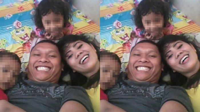 Daperum Nainggolan bersama anak dan istri