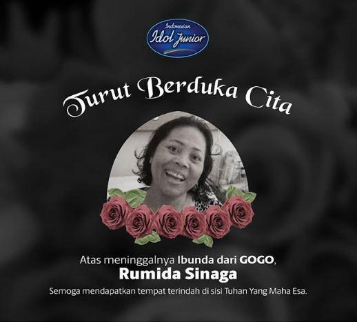 Ibunda gogo indonesian idol junior meninggal