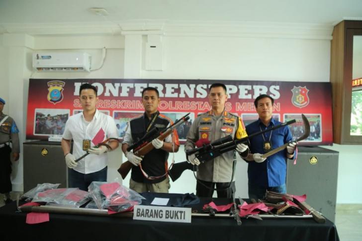 barang bukti penembakan anggota IPK