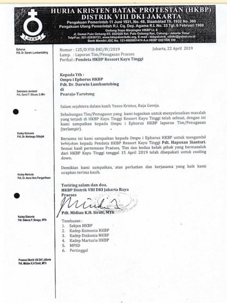 Surat Putusan HKBP