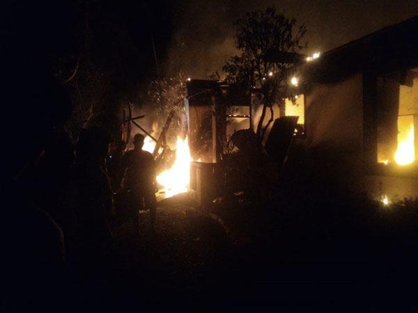 Korban Kebakaran Rumah Di Langkat
