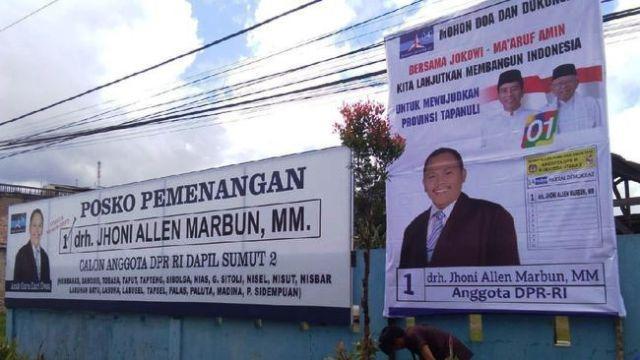Baliho Jhoni Allen Jokowi